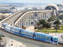 Metro teče po viaduktih